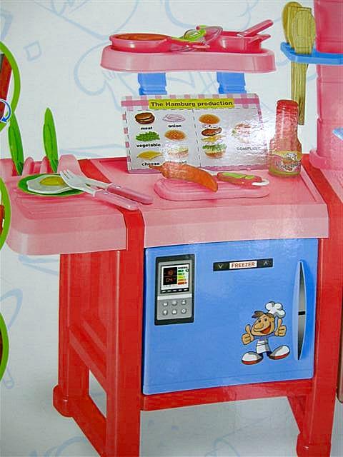 Duża Kuchnia Dla Dzieci Akcesoria świeci I Gra